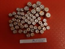 VINTAGE GUMBALL/VENDING SILVERISH GOLD DICE TOYS LOT OF 60