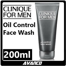 CLINIQUE For Men Oil Control Face Wash 200ml Gel Cleanser Daily Acne Pimple NEW