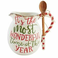 New listing Mudpie - Christmas - Christmas Farm Pitcher with Spoon - 45500048