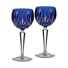 Waterford Crystal LISMORE PRESTIGE COBALT Blue Wine Hocks  SET / 2 - NEW / BOX