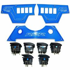 Blue 3 Pc Polaris RZR XP1000 900S Dash Panel Rocker Switches Waterproof On/Off