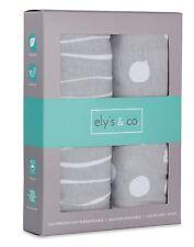 Pack n Play Sheet | Mini Crib Sheet Set 2 Pack Grey and White Abstract...