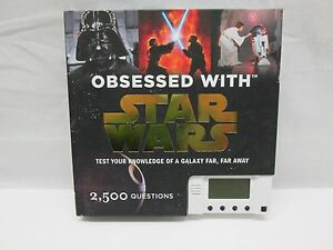 Obsessed With Star Wars by Bejamin Harper 2008 Hardcover W/ Working LCD (M)