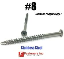 8 Stainless Steel Deck Screws Square Drive Wood Type17 Cutter Composite Decking