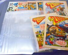 SIZE F. 100 x ULTRA CLEAR POLYPROP. COMIC BAGS - TO FIT OLD SIZE 2000 AD COMICS