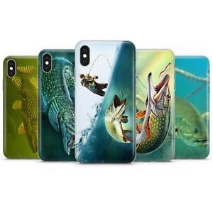 FISHING PIKE BASS ROD LAKE FISHERMAN PHONE CASES & COVERS FOR IPHONE 6 7 8 X 11