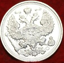 1915 Russia 20 Kopeks Silver Foreign Coin