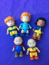 "CALLIOU FIGURES - ROSY, CAILLOU, LEO & CLEMENTINE - 2.5"" - Lot Of 5 Posable"
