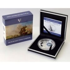 "Cook Island 2014 10$ Royal Delft Dutch East India Company Silver Coin  ""1"""