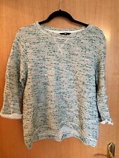 H&M Green Grey Flecked Jumper Sweater Top Size S Small Loose Fit Free P&P