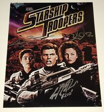 Casper Van Dien STARSHIP TROOPERS Cast X3 Signed 11x14 Photo In Person Autograph