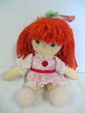 "Vintage 1981 Fabric Panel Strawberry Shortcake #5728 Homemade 10/"" Dolls Cloth"