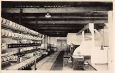 Broek in Waterland Netherlands Cheese Factory Interior Real Photo PC J43844