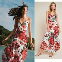 NWT ANTHROPOLOGIE Farm Rio floral maxi dress, Size 8