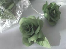12 x Green Rose Buttonhole Flowers - Crafts Clearance Sale - Wedding Corsage etc
