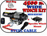 4500 Mad Dog WIDE Steel Winch/Mount Kit for 2009-2013 Honda Big Red 700