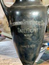 Silver skeet shooting trophy- 1938 (bullion?)
