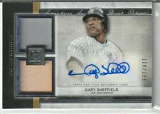 2020 MUSEUM GARY SHEFFIELD DUAL JERSEY BAT RELIC AUTO #116/299!! YANKEES