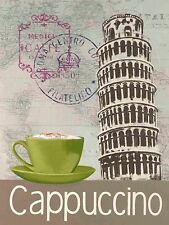 Marco Fabiano: Round the World Cappuccino Fertig-Bild 24x30 Wandbild Cafe Küche