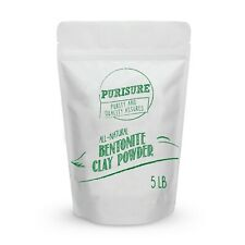 Purisure Bentonite Clay 5lbs, Acne Treatment, Mud Mask, Soothes And Detoxifies