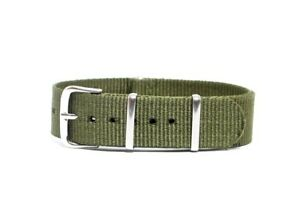 Cinturino per orologio tessuto cordura nato ansa 20mm verde kanvas watch strap