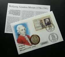Germany Mozart 1991 Music Famous Musician FDC (coin cover) *rare