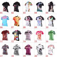 New Women Cycling Jersey Comfortable Bike Bicycle Outdoor Top Short Sleeve Shirt