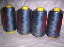 4ea THREAD 6,000yd NAVY BLUE #608 COTTON-LOOK POLYESTER T#50/2 Multi uses SEALED