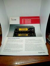 icom ic-3220a ic-3220e ic-3220h BROCHURE ORIGINALE RADIO HF AMPLIFICATORE