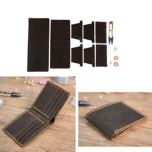 DIY Brown Leather 6 Pockets Wallet Purse Kit Make Your Own Leather Wallet