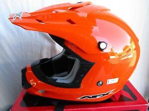 mens AFX FX-17 solid gloss orange 4XL motocross helmet