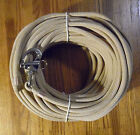 """3/8"""" x 125 ft. Tan/Beige Dacron/Polyester Halyard, Spliced in S/S Snap Shackle"""