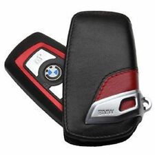BMW NEW GENUINE 1  3 4 5 6 7 X4 KEY FOB CASE LEATHER RED/BLACK PROTECTOR 2219909
