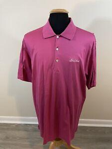 Peter Millar XL Mens Pink Sea Island Cotton Short Sleeve Casual Polo Shirt