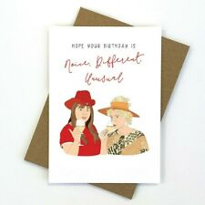 Kath and Kim Birthday Card | Australian Made | Blank Inside | Envelope Included