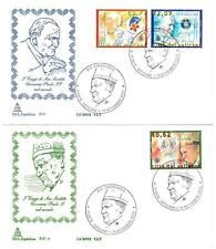 VATICANO - 2003 - I viaggi del Papa nel mondo nel 2002 su 2 FDC Capitolium