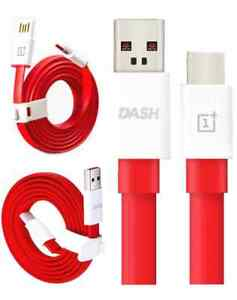 GENUINE DASH USB DATA CHARGER LEAD CABLE FOR ONEPLUS 2 3 5 5T 6 1.0M OR 1.5M RED