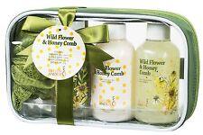 Wild Flower & Honey Spa Set, Shower Gag w/ Bath Products Bath Gift Set for women