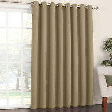 Blockout Eyelet Curtain 3 layer Pure Fabric Drapes Room Darkening  6 Colors