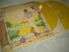 ELTON JOHN - GOODBYE YELLOW BRICK ROAD. YELLOW VINYL DOUBLE LP  . EX /EX