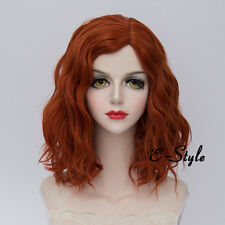 Daily Orange 35CM Medium Curly Lolita Women Heat Resistant Cosplay Fashion Wig