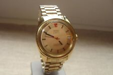 VINTAGE:OMEGA ELECTRONIC SEAMASTER F300HZ CHRONOMETER CAL.1250 DIAL GOLD 18K