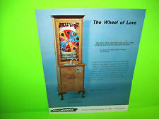 Mike Munves The WHEEL Of LOVE Original Mechanical Arcade Game Promo Sales Flyer