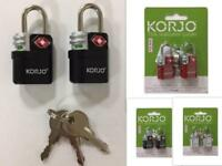 TSA Approve Luggage Lock Travel Suitcase Bag Locks Indicator Keyed Padlock 2pack