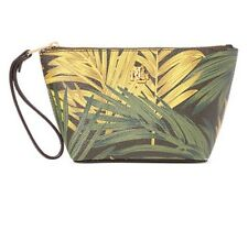 New Ralph Lauren Amberly Palm Cosmetic Wristlet - Cargo Olive - Retail $68