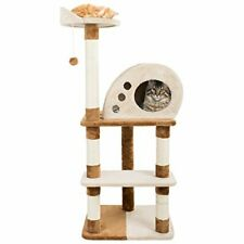 New listing 4 Tier Cat Tree- Plush Multi-Level Cat Tower with Sisal Scratching Posts,