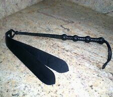 """USA Hand crafted Genuine Leather 5 button Quirt 26.5"""" Double Slapper Quirt, Unis"""