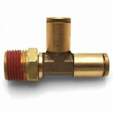 "3/8"" NPT Male to 5/16"" Push Tube 90 Male to Tube T Air Fitting v8 hot rod"