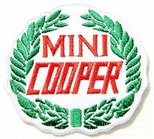 MINI COOPER Racing Patch Sew Iron on Embroidered Jacket Suit Cap Badge Logo Sign