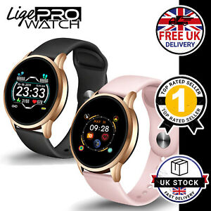 LIGE Smart Watch Heart Rate Monitor Fitness Tracker Steps Calories  BLACK / PINK